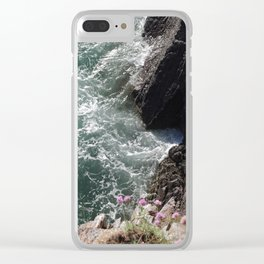 Coastal cliff Clear iPhone Case