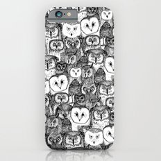 just owls black white iPhone 6s Slim Case