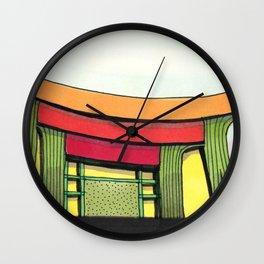 Cactus Pagoda Architectural Design 53 Wall Clock