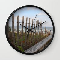 maine Wall Clocks featuring Maine Beach by Thanks for the Memories