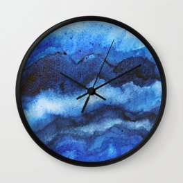 Blue Layers Wall Clock