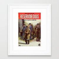 reservoir dogs Framed Art Prints featuring RESERVOIR DOGS by Ads Libitum