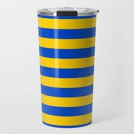 Asturias Sweden Ukraine European Union flag stripes Travel Mug