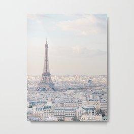 Paris Skyline, Eiffel Tower View, Travel Photography Metal Print