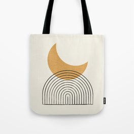Moon mountain gold - Mid century style Tote Bag