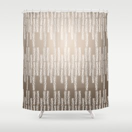 Eye of the Magpie tribal style pattern - champagne Shower Curtain