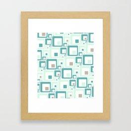 Retro Squares Mid Century Modern Background Framed Art Print