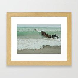 Summer Waves Rhapsody Framed Art Print