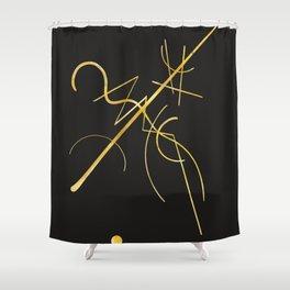 Kandinsky - Black and Gold Shower Curtain