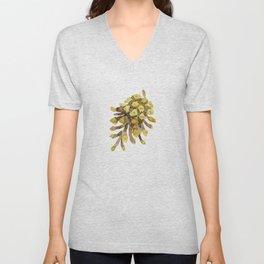 Pine cones pattern. Nature Unisex V-Neck