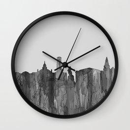 Aberdeen, Scotland Skyline - Navaho B&W Wall Clock