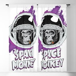 Space Monkey Retro Classic Blackout Curtain