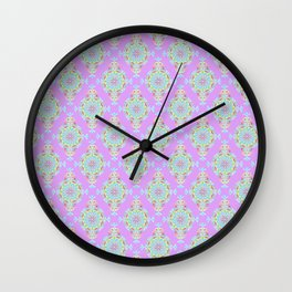 Vintage Moroccan Pattern in Lavender Wall Clock
