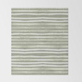 Simply Shibori Stripes Green Tea and Lunar Gray Throw Blanket