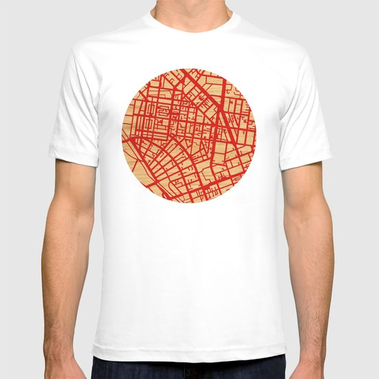 Map of the Town T-shirt