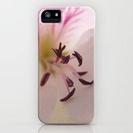 Geranium Flower Centre  iPhone Case