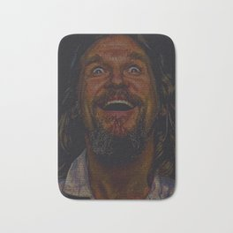The Dude (Lebowski Screenplay print) Bath Mat