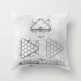Pool table triangle Throw Pillow