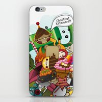 katamari iPhone & iPod Skins featuring Chestnut Katamari by Ed Warner
