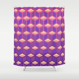 Gradient Cubes Shower Curtain