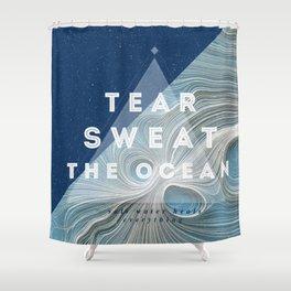 Salt water heals Shower Curtain
