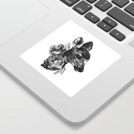 Fawn & Flora I Sticker