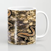 snake Mugs featuring SNAKE by sametsevincer