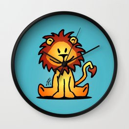 Cute little lion Wall Clock