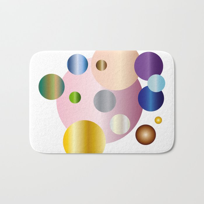 planetarium abstract geometrical design Bath Mat