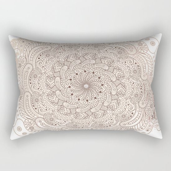 Round ornament Rectangular Pillow