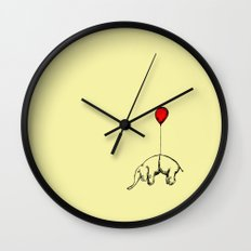 Red Elephant Wall Clock