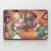 returns iPad Cases featuring Alice returns by Caroletta