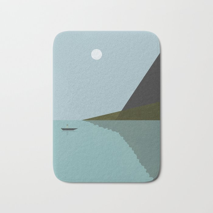 Sailing at night Bath Mat