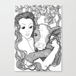 CALF NYMPH Canvas Print