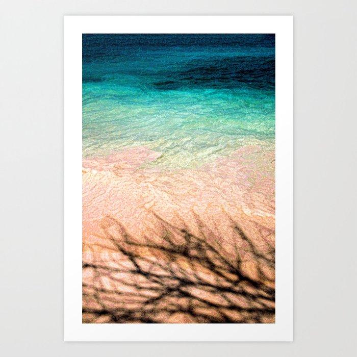 SEA AND TREE Art Print