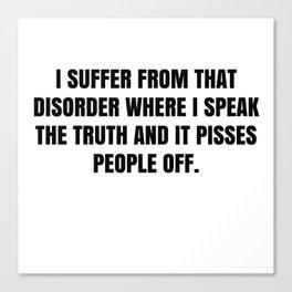 My Disorder Canvas Print