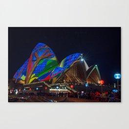 Vivid Sydney at Opera House Canvas Print