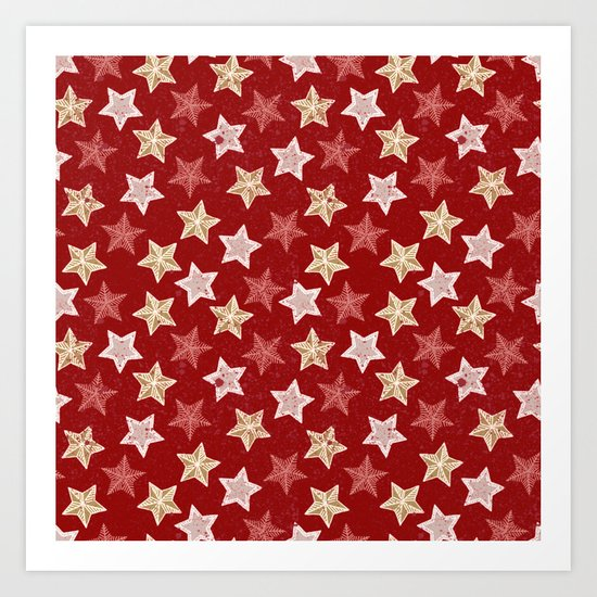 Festive Stars Art Print