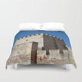 Lisbon Castle, Portugal Analog 6x6 Kodal Ektar 100 (RR 164) Duvet Cover