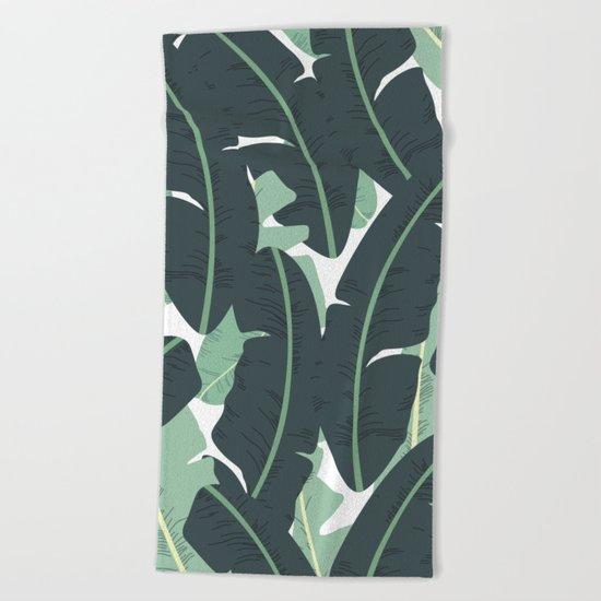 Banana Leaf Pattern #society6 #decor #buyart Beach Towel