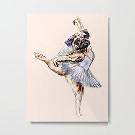 Pug Ballerina in Dog Ballet | Swan Lake  Metal Print