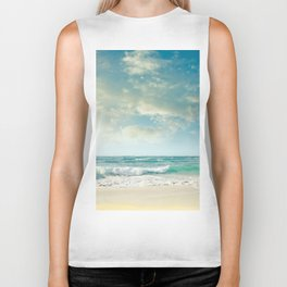 beach love tropical island paradise Biker Tank