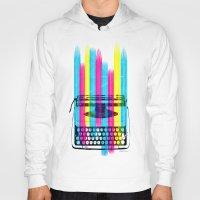 typewriter Hoodies featuring Typewriter by Elizabeth Cakovan