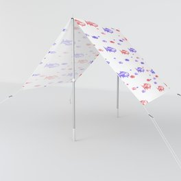 Red and Blue Fish Pattern Sun Shade