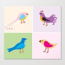 4 Little Birdies Canvas Print