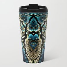 Tree Aglow Abstract Metal Travel Mug
