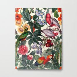 Floral and Birds XXXIX Metal Print
