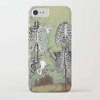 bones iPhone & iPod Cases featuring Bones by A C U L T
