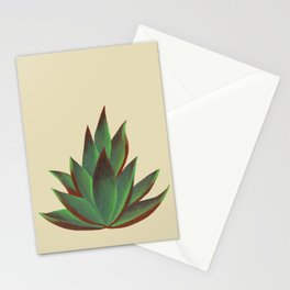 Red and Green Aloe Vera Plant Stationery Cards