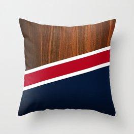 Wooden New England Throw Pillow